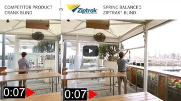 quick adjusting patio blinds