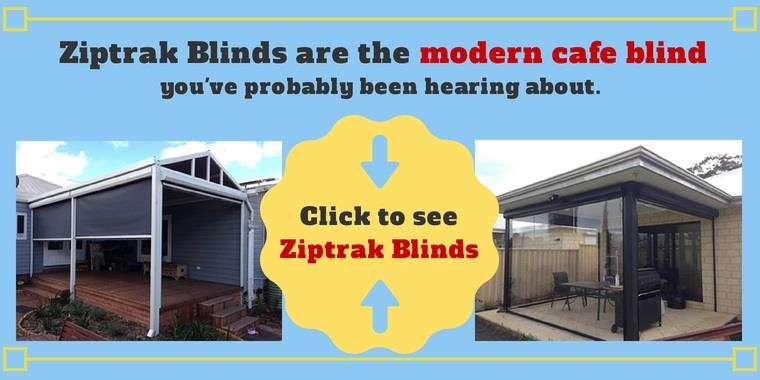 examples of modern track guided outdoor blinds