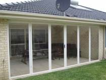 bi fold pvc doors from garden