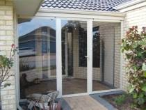 pvc bi fold doors of sunroom