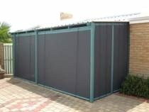 mesh bottom lock rail blinds