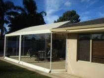 clear pvc blinds with ropes and pulleys