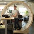 hamster wheel work desk