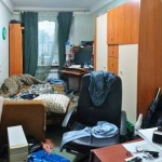 very messy room interior