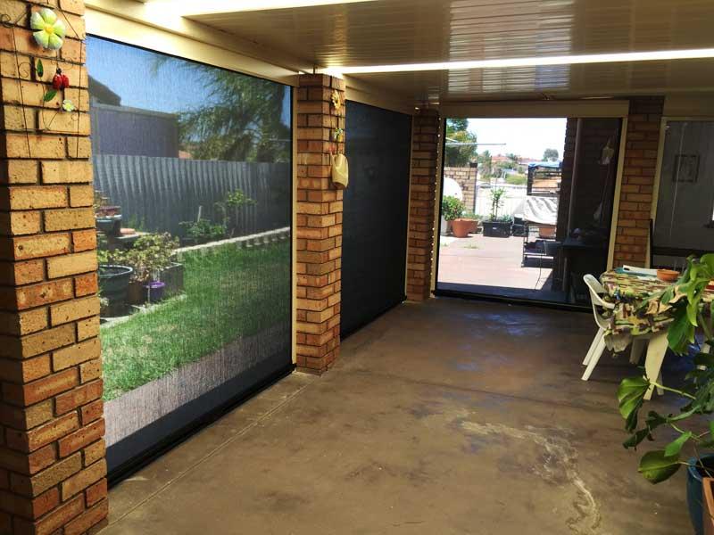 ziptrack patio blinds enhance perth home.