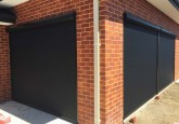 red brick walls with outdoor blinds