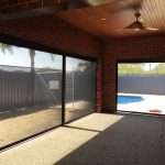 unfurnished alfresco area with swimming pool on one side