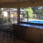 outdoor blinds installed in back patio in wellard.