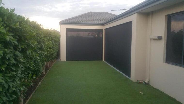 backyard ziptrak blinds installation in Success, south of Perth