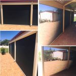 Shade mesh ziptrak blinds installation in Warnbro south of Perth