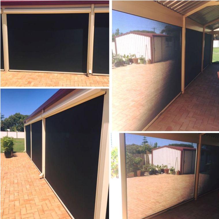 Shade mesh ziptrak blinds installation in Warnbro south of Perth