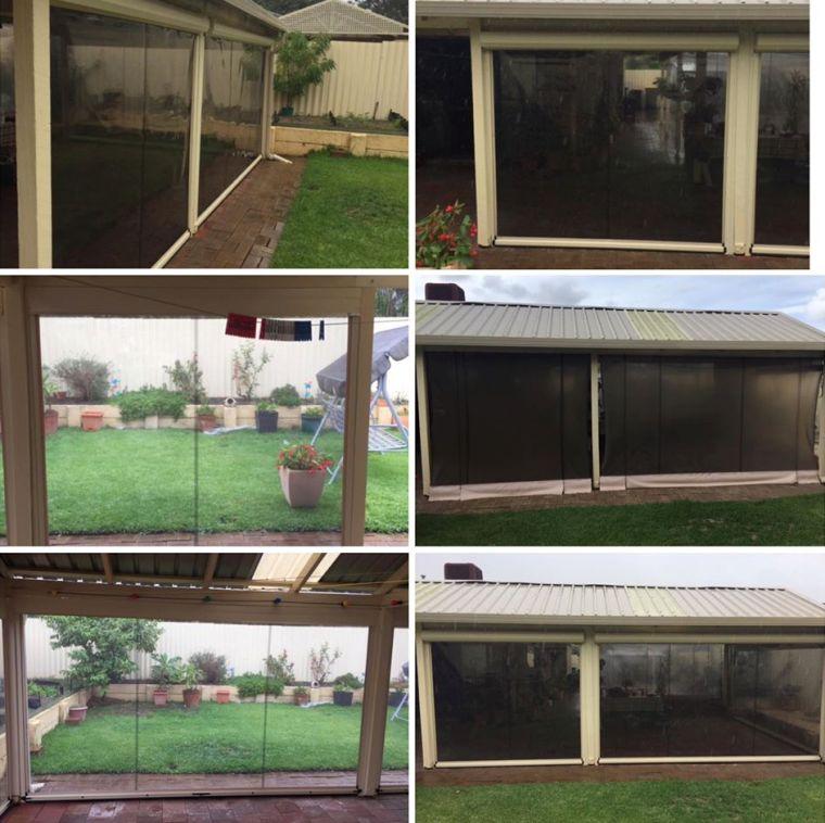 light smoke pvc outdoor blinds